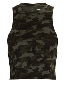 All Access Dynamic Cropped Camouflage Tank Top