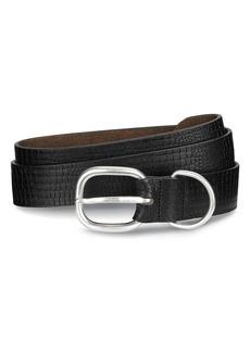 Allen-Edmonds Allen Edmonds Croco Print Leather Belt