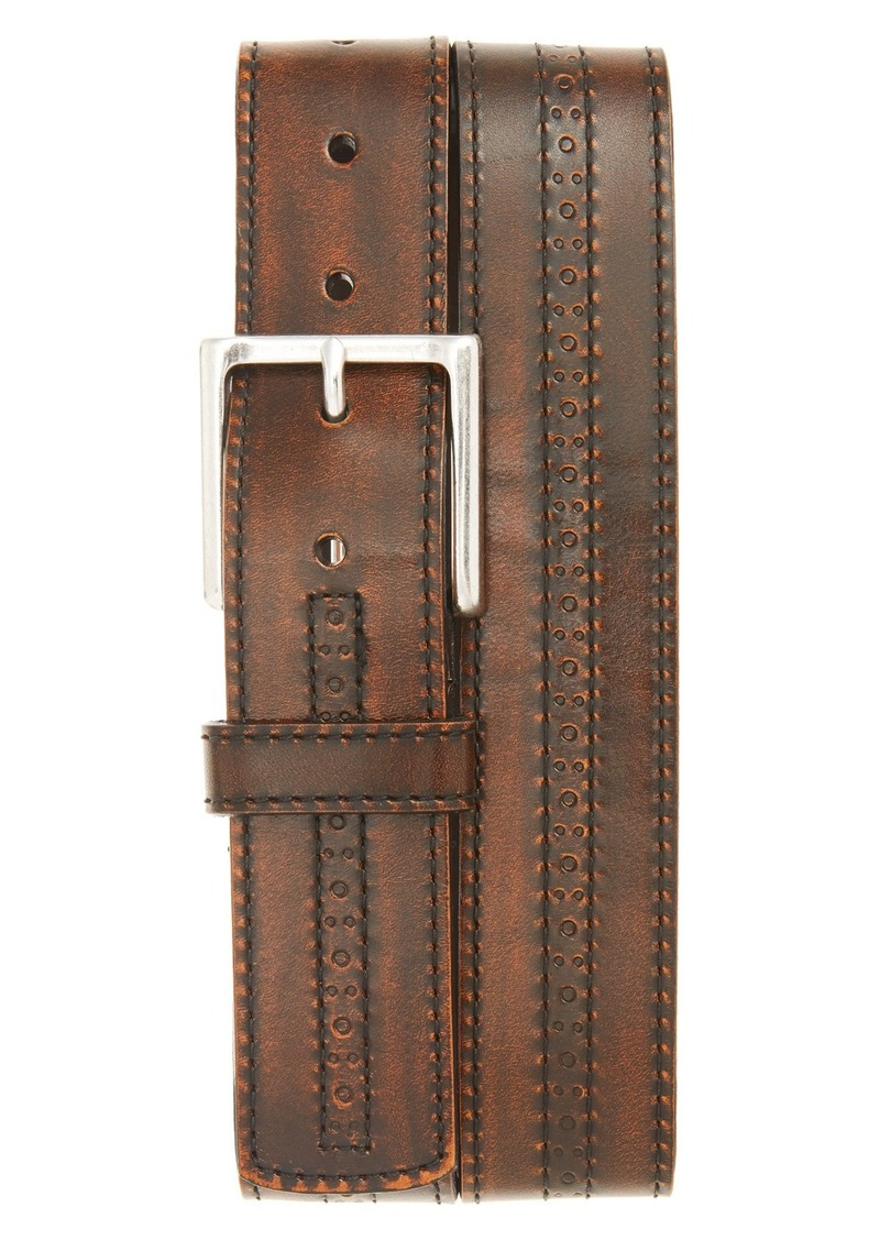 Allen-Edmonds Allen Edmonds 'Hackett Ave' Brogue Leather Belt