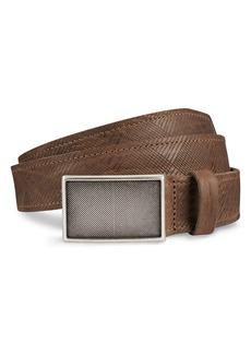 Allen-Edmonds Allen Edmonds Laser Plaid Leather Belt