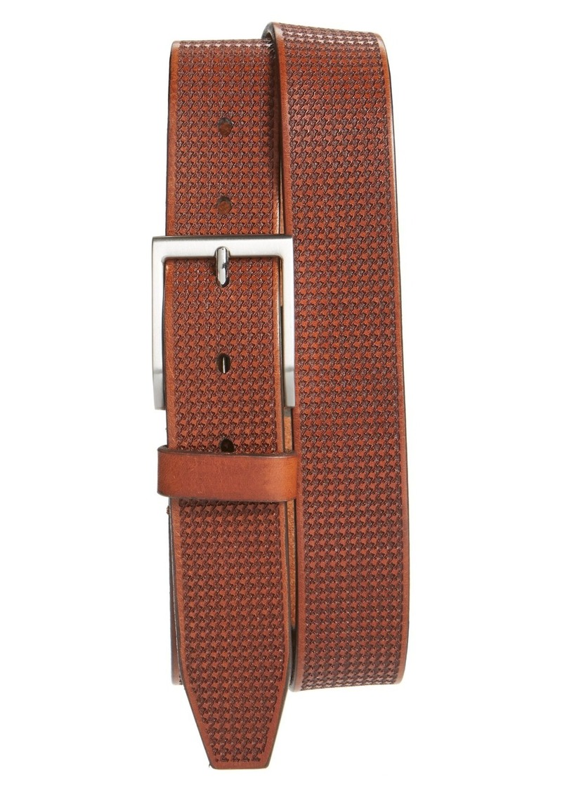 Allen-Edmonds Allen Edmonds 'Shorewood Avenue' Houndstooth Leather Belt