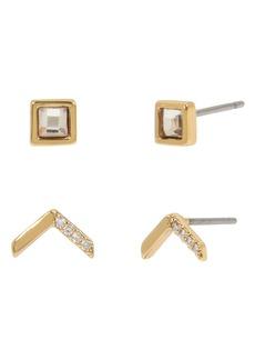 ALLSAINTS 2-Pack Arrow Stud Earrings Set