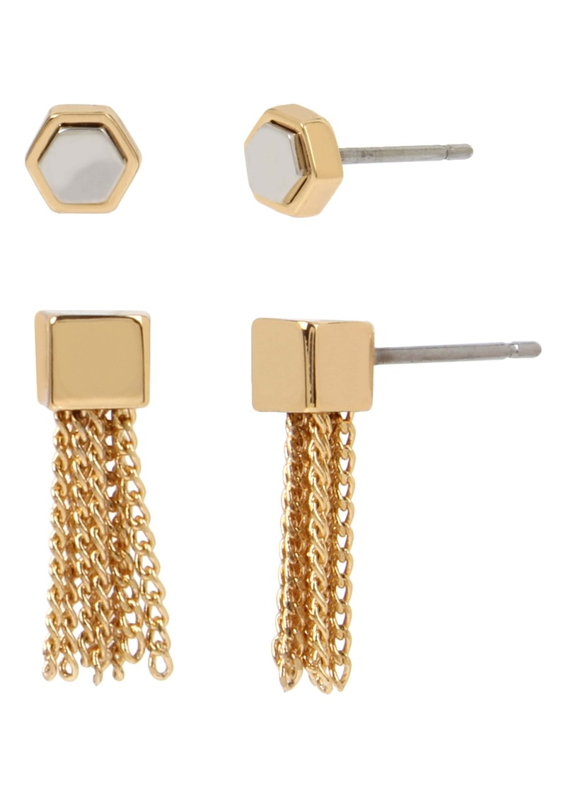 ALLSAINTS 2-Pack Mini Tassel Stud Earrings