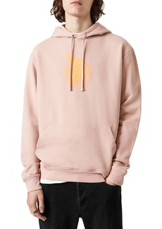 ALLSAINTS Acid Eagle Cotton Printed Relaxed Fit Hoodie