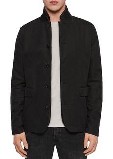 ALLSAINTS Acklam Suede Collar Garment-Washed Jacket