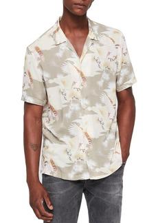 ALLSAINTS Akashi Slim Fit Print Camp Shirt