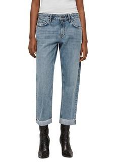 ALLSAINTS Alana Cropped Boyfriend Jeans in Light Indigo