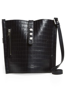ALLSAINTS Alexandria Croc Embossed Leather North/South Tote