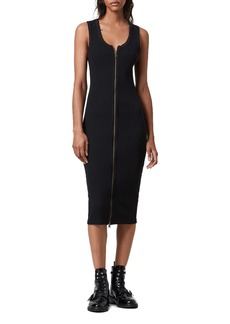 AllSaints Alicia Rib Knit Midi Dress
