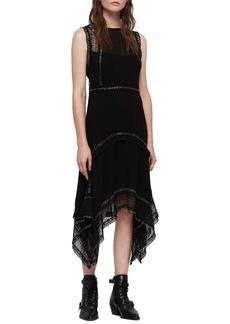 ALLSAINTS Alicia Sleeveless Lace Midi Dress