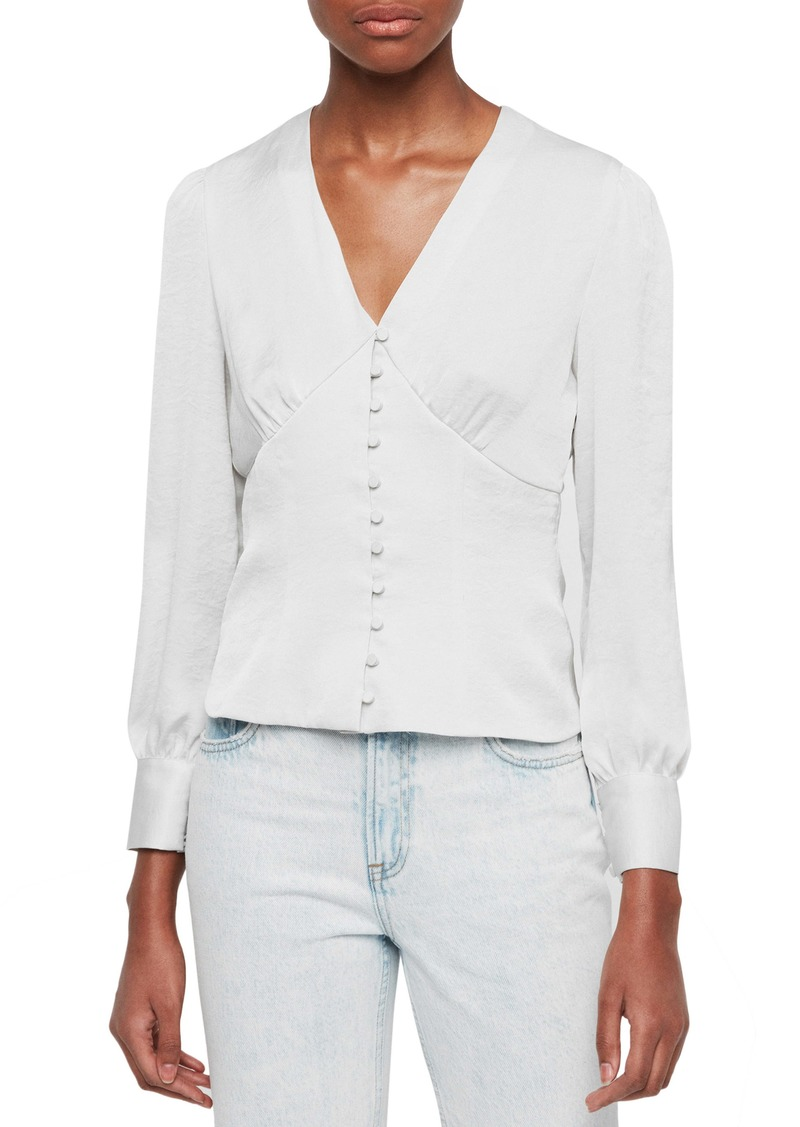 ALLSAINTS Amalie Satin Top