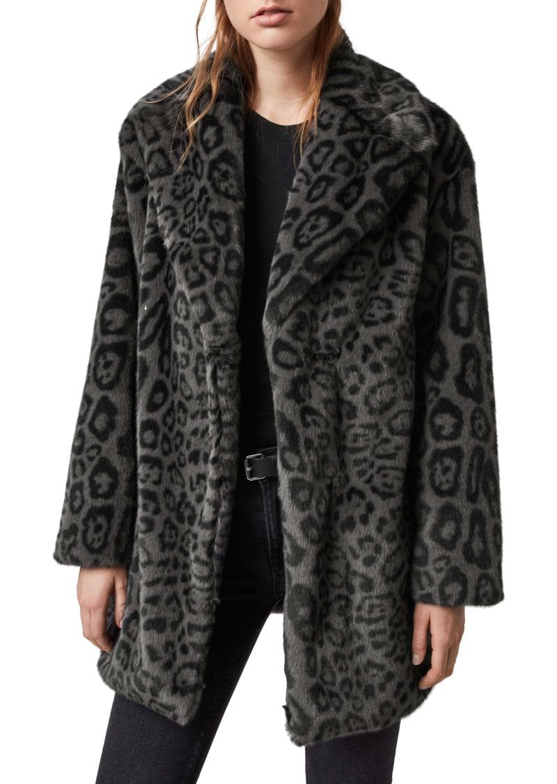 ALLSAINTS Amice Leopard Print Faux Fur Coat