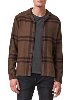 ALLSAINTS Anchorage Slim Fit Check Flannel Button-Up Shirt