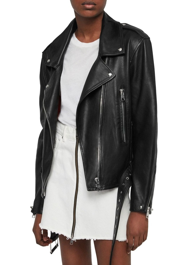 ALLSAINTS Annina Leather Biker Jacket