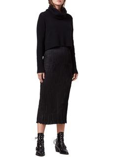 ALLSAINTS Ansel Heather Two-Piece Sweater & Slipdress