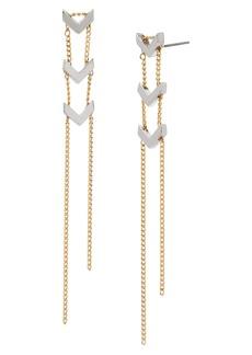 ALLSAINTS Arrow Linear Drop Earrings