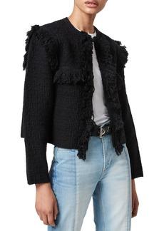 AllSaints Ashley Tassel Tweed Jacket