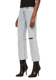 ALLSAINTS Ava Cropped Straight-Leg Jeans in Ice Blue