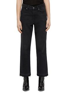 ALLSAINTS Ava Released-Hem Rigid Straight-Leg Jeans in Black
