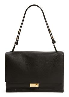 ALLSAINTS Avery Leather Flap Shoulder Bag