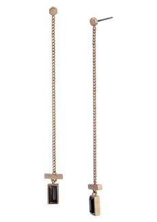 ALLSAINTS Baguette Linear Drop Earrings
