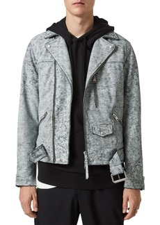 ALLSAINTS Bakewell Distressed Leather Biker Jacket