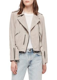 ALLSAINTS Balfern Suede Moto Jacket