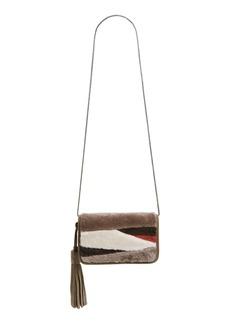 ALLSAINTS Bando Genuine Shearling Crossbody Bag