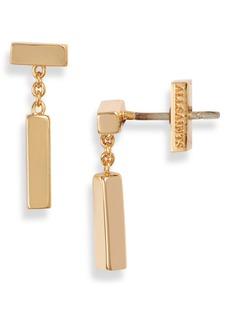 ALLSAINTS Bar & Chain Drop Earrings