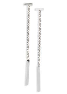 ALLSAINTS Bar Detail Linear Drop Earrings