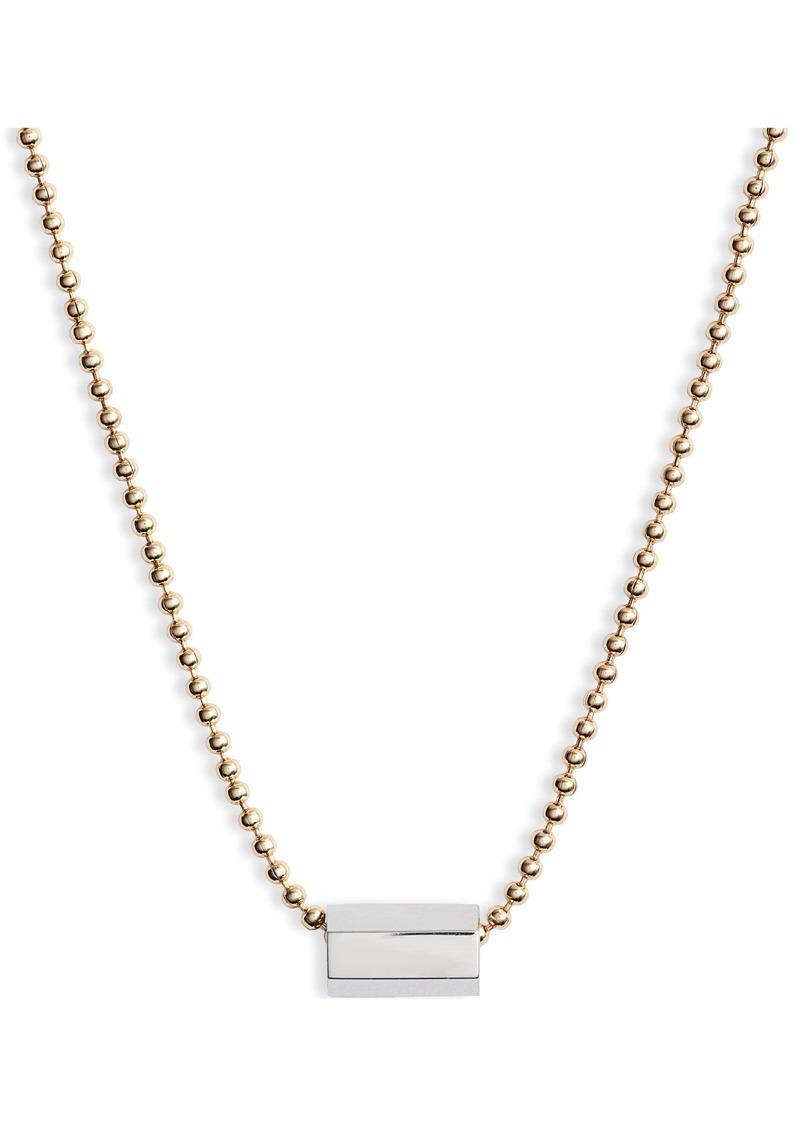 ALLSAINTS Bar Pendant Chain Necklace (Nordstrom Exclusive)