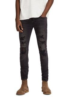 ALLSAINTS Battle Cigarette Slim Fit Jeans in Jet Black