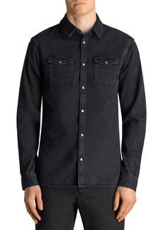 ALLSAINTS Beck Slim Fit Denim Sport Shirt