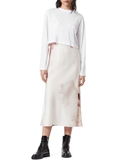 AllSaints Benno January Long Sleeve T-Shirt & Slipdress