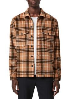 ALLSAINTS Berthold Slim Fit Plaid Flannel Button-Up Shirt