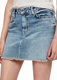 ALLSAINTS Betty Studded Denim Skirt