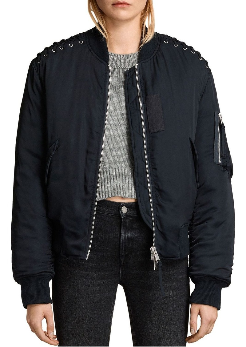 ALLSAINTS Bree Laced Bomber Jacket