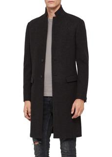ALLSAINTS Burge Classic Fit Plaid Wool Blend Topcoat