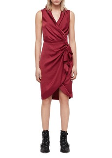 ALLSAINTS Cancity Ruched Wrap Dress