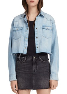 ALLSAINTS Cannon Cropped Denim Western Shirt