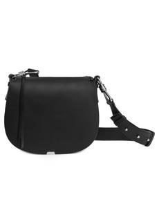 ALLSAINTS Captain Round Leather Crossbody Bag