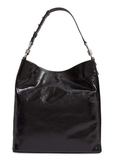 ALLSAINTS Captain Shiny Calfskin Leather Tote (Nordstrom Exclusive)