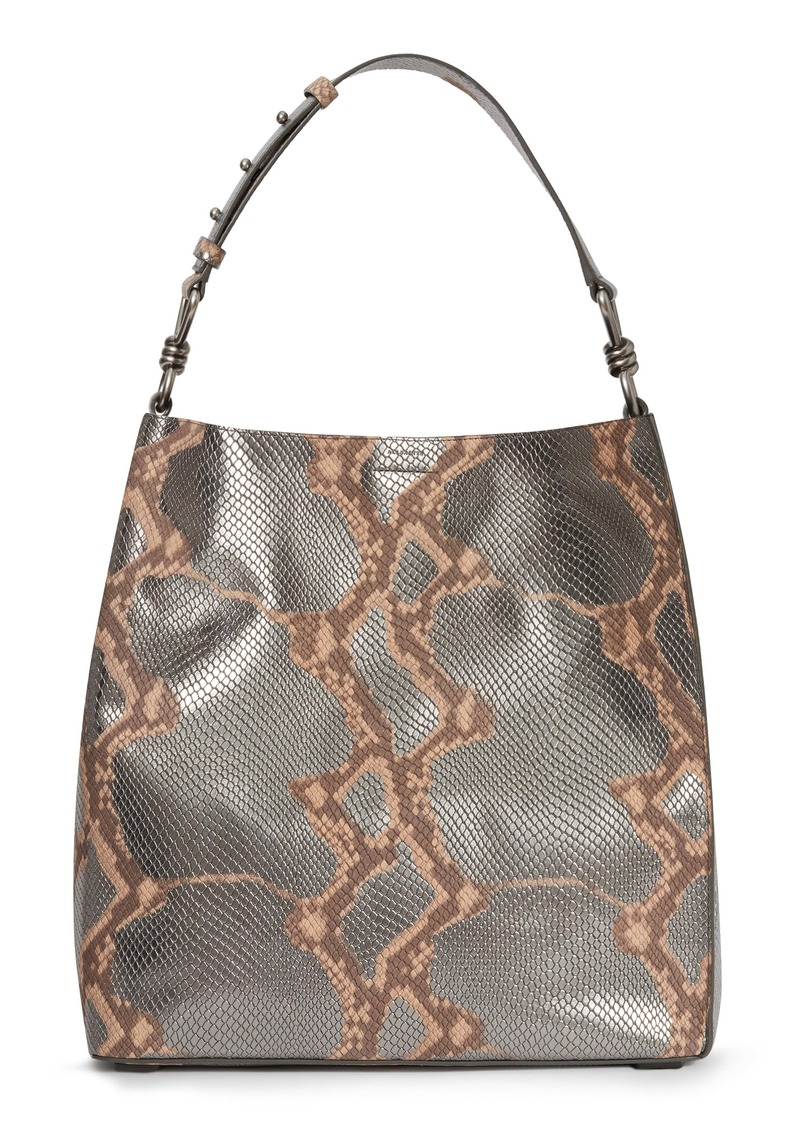 ALLSAINTS Captain Snakeskin Embossed Leather Tote (Nordstrom Exclusive)