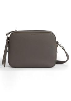 ALLSAINTS Captain Square Leather Crossbody Bag