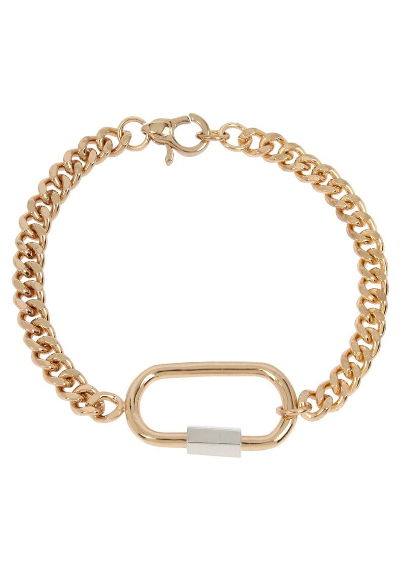 ALLSAINTS Carabiner Curb Link Bracelet