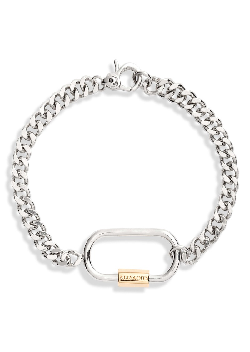 ALLSAINTS Carabiner Flex Chain Bracelet
