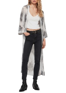 ALLSAINTS Carine Feather Print Duster