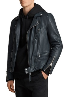 ALLSAINTS Carver Slim Fit Leather Biker Jacket