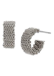 ALLSAINTS Chain Wrap Huggie Hoop Earrings