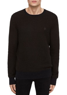 ALLSAINTS Charter Waffle-Knit Cotton & Wool Crewneck Sweater